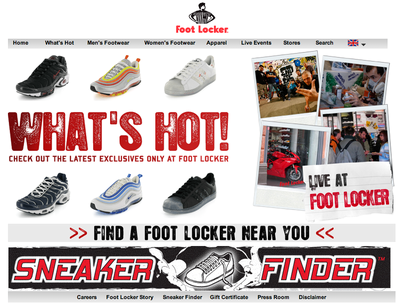 Foot Locker sites européens