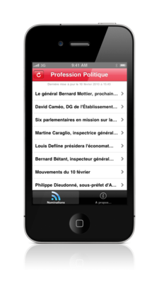 Profession Politique iOS